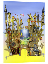 Tableau en verre acrylique  Castles in the air - Colin Thompson
