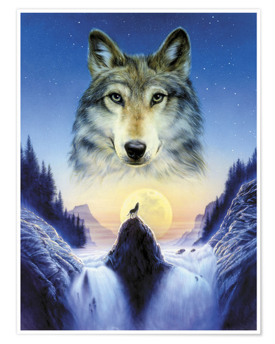 Poster Loup cosmique