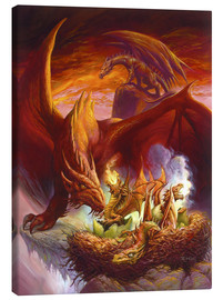 Tableau sur toile  Children of the Dragon - Jeff Easley
