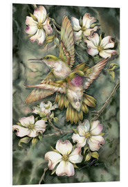 Tableau en PVC  Hummingbirds and flowers - Jody Bergsma