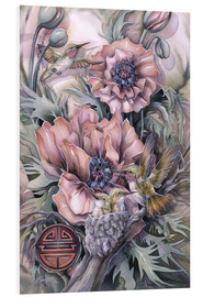 Tableau en PVC  Love is life sweetest flower - Jody Bergsma