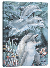 Toile  Peace, Love and Laughter - Jody Bergsma