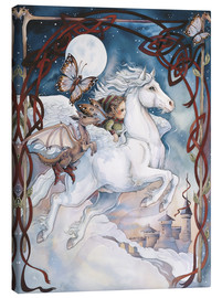 Tableau sur toile  Child Riding On Horse - Jody Bergsma