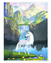 Poster White horse waterfall