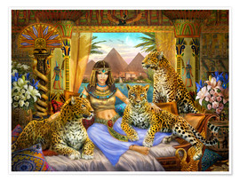 Poster  Egyptian Queen of the Leopards - Jan Patrik Krasny