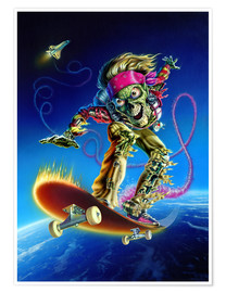 Poster  Skateboarder - Extreme Zombies