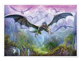 Poster  The Valley Of Dragons - Dragon Chronicles