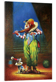 Verre acrylique  Clown and dog - Petar Meseldzija