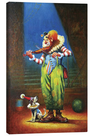 Toile  Clown and dog - Petar Meseldzija