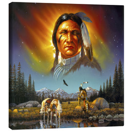 Tableau sur toile  Chef Eagle Feather - Chris Hiett