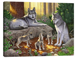 Tableau sur toile  A family of wolves - Chris Hiett