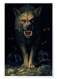 Poster  Demon wolf - Chris Hiett