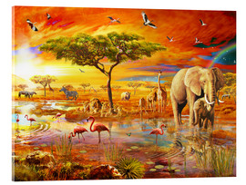 Tableau en verre acrylique  Savanna Pool - Adrian Chesterman