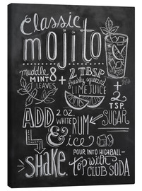 Toile  Recette du mojito (anglais) - Lily & Val