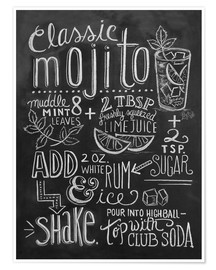 Poster  Recette du mojito (anglais) - Lily & Val
