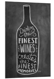Tableau en PVC  Finest wines - Lily & Val
