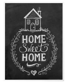 Poster  Home Sweet Home - Lily & Val