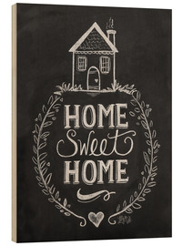 Tableau en bois  Home Sweet Home - Lily & Val