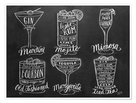 Poster  Cocktail Recipes - Lily & Val