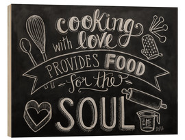 Tableau en bois  Cooking with love - Lily & Val