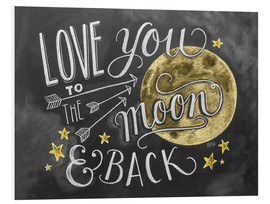 Tableau en PVC  Love you to the moon and back - Lily & Val