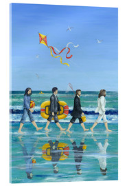 Tableau en verre acrylique  Plage Abbey Road - Peter Adderley