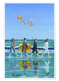 Poster  Plage Abbey Road - Peter Adderley