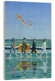 Tableau en bois  Plage d'Abbey Road - Peter Adderley