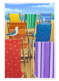 Poster  Rainbow Deckchairs - Peter Adderley