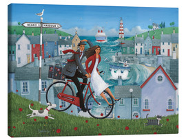 Toile  Bicycle Seascape - Peter Adderley