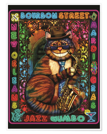 Poster  Jazz Cat - Lewis T. Johnson