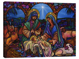 Toile  Stained Glass Nativity - Lewis T. Johnson