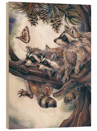 Bois  Raccoons and butterfly - Jody Bergsma