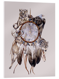 Tableau en verre acrylique  Dream catcher - Jody Bergsma