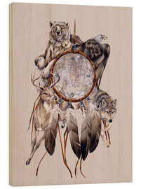 Tableau en bois  Dream catcher - Jody Bergsma