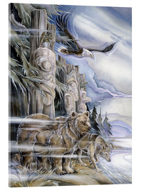 Tableau en verre acrylique  The three watchmen - Jody Bergsma