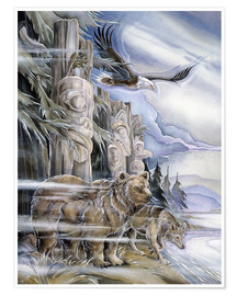 Poster  The three watchmen - Jody Bergsma