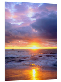 Forex  USA, California, San Diego., Sunset Cliffs beach on the Pacific Ocean at Sunset. - Christopher Talbot Frank