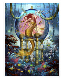Poster  Red Mermaid - Ciro Marchetti