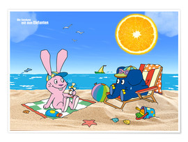 Poster  Elephant and Hare go on holiday