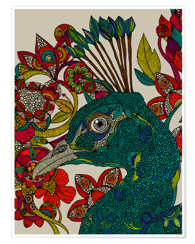 Poster Peacock Port