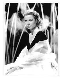 Poster  Grace Kelly with a tulle shawl