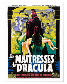 Poster  THE BRIDES OF DRACULA (LES MAITRESSES DE DRACULA), David Peel