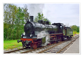 Poster  Old Steam Locomotive in the Black Forest - Fine Art Images