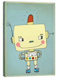 Toile  Robbie robot in love - Little Miss Arty