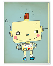 Poster  Robbie robot in love - Little Miss Arty