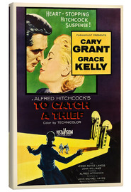 Tableau sur toile  TO CATCH A THIEF, Alfred Hitchcock, Cary Grant, Grace Kelly