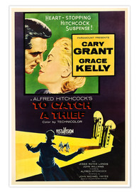 Poster  TO CATCH A THIEF, Alfred Hitchcock, Cary Grant, Grace Kelly