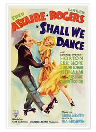 Poster  SHALL WE DANCE, Fred Astaire, Ginger Rogers