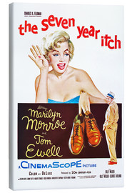 Toile  THE SEVEN YEAR ITCH, Marilyn Monroe, Tom Ewell